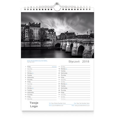 Kalendarz ścienny A3 wzór 3