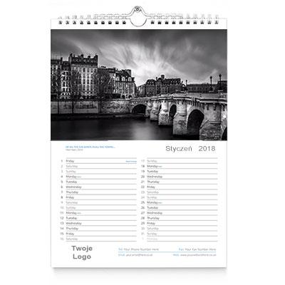 Kalendarz ścienny A4 wzór 2