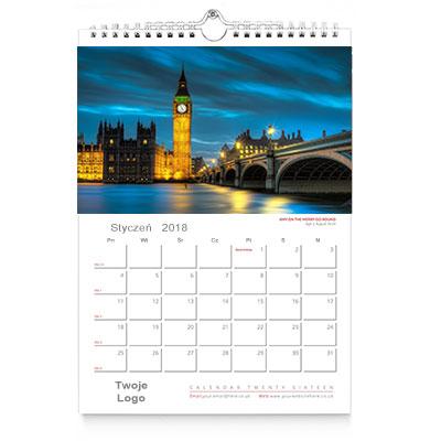 Kalendarz ścienny A4 wzór 3