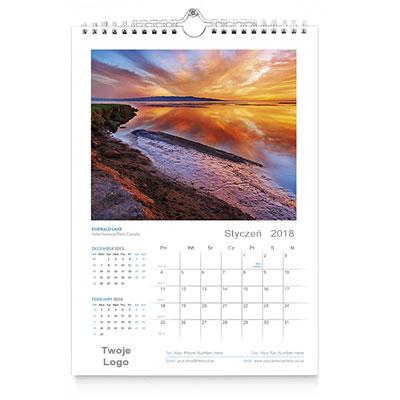 Kalendarz ścienny A4 wzór 1
