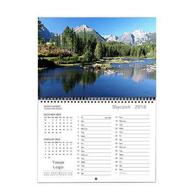 Kalendarz ścienny A3 dzielony wzór 2