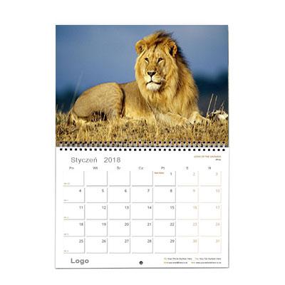Kalendarz ścienny A3 dzielony wzór 1