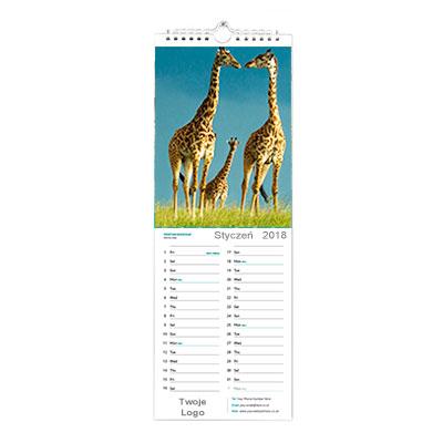 Wąski kalendarz ścienny wzór 3